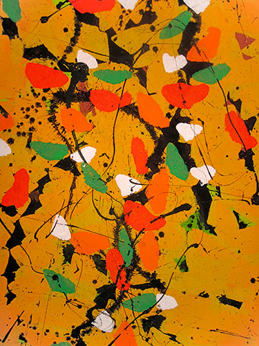 Pigment auf Holzplatte, 100x80