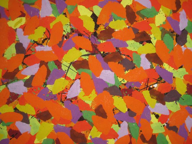 O.17 Pigment auf Dibont 80x110 cm