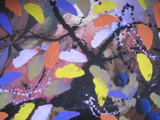 O.14 Pigment auf Photo 52x70 cm