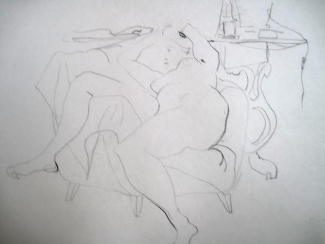 Zeichnung von Ulrich Moroder, Ohne Titel
